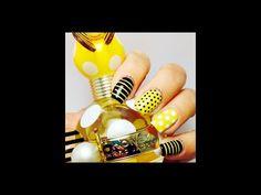 Marc Jacobs Honey Nail art - YouTube
