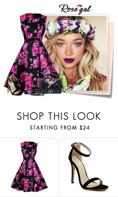 """""""Rosegal/10"""" by elenb ❤ liked on Polyvore featuring Post-It, vintage, dress, women and rosegal"""