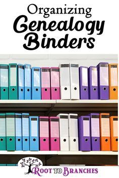 Genealogy Organization- Organizing Genealogy Binders Tired of not being able to find your documents and photos? These genealogy organization research tips can help you find the right artifact every time.