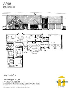 Timber Frame, Self Build Houses Images, Plans and Design Galleries Scotland & UK - Fleming Homes Timber Frame Scotland Build My Own House, Self Build Houses, Building Design, Building A House, House Plans Uk, Home Board, Timber Frame Homes, Eco Friendly House, Kit Homes