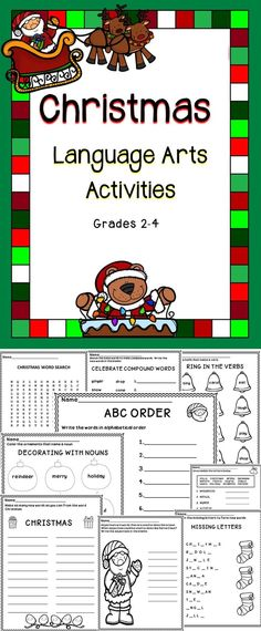 Merry Christmas! This is a Christmas no-prep language arts activity book for the classroom.