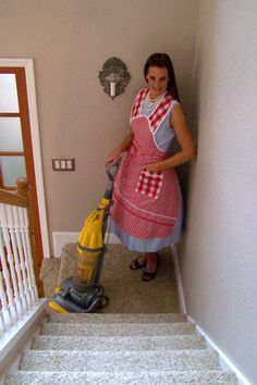 Retro apron.  Chores are a wee bit more pleasant in a Retro Revival apron;)  www.RetroRevival.Biz