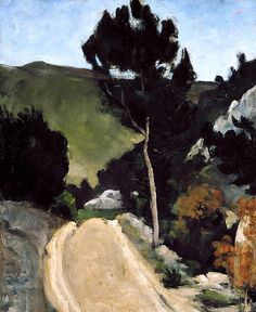 Paul Cezanne - Bend in a Road in Provence, About 1866 or later