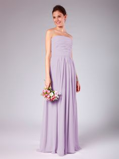 Strapless Column Bridesmaid Dress | Plus and Petite sizes available! Hundreds of styles, tons of colors!