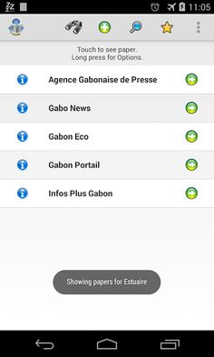 All Newspapers of Gabon at your fingertips.<p>Save Money... Save Paper... Save the WORLD!! <p>>> All newspapers are available in this app.<br>>> The newspapers are categorized by state<br>>> You can mark your chosen newspapers as favorites<br>>> Quick acc