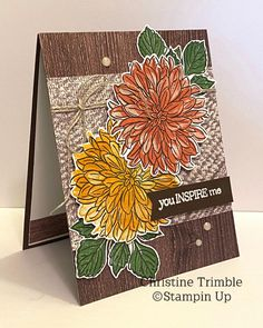 Stamping Up Cards, Flower Cards, I Card, Cardmaking, Stampin Up, Greeting Cards, Bloom, Paper Crafts, Delicate