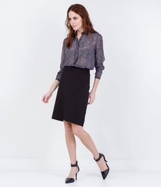 Camisa Feminina em Chiffon Estampada - Lojas Renner