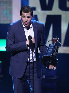Evgeni Malkin of the Pittsburgh Penguins speaks onstage after winning the Art Ross Trophy during the 2012 NHL Awards at the Encore Theater at the Wynn Las Vegas on June 20, 2012 in Las Vegas, Nevada