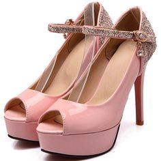 69.58$  Buy here - http://aliwyl.worldwells.pw/go.php?t=32283379355 - Open Peep Toe Gladiator Thin Heels Sexy Women's Pumps Green White Pink Party Wedding Summer Pumps Glitter Platform Pumps 69.58$