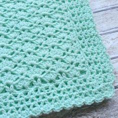 Hand Crochet Baby Blanket Afghan