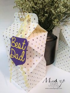 Thought I would do a Fathers Day project seeing as the UK celebrates all the wonderful men in our lives this Sunday. These are big boxes 3 x 5.1/2 so lots of room for treats. To make these you will…