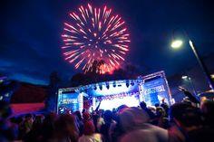 Fireworks at Threbo's Efterski Festival in the snow #snowaus