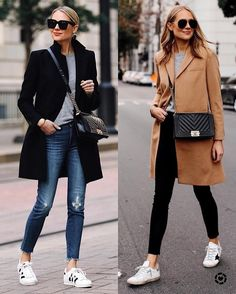 Stylish outfits, sneakers outfit casual, fashion outfits, womens fashion, s Sneakers Fashion Outfits, Winter Fashion Outfits, Mode Outfits, Look Fashion, Fall Outfits, Casual Outfits, Womens Fashion, Jeans And Sneakers Outfit, Sneaker Outfits Women