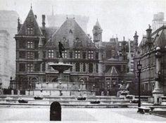 Cornelius Vanderbilt II Residence   New York, NY. The current site of Bergdorf Goodman, the Vanderbilt Chateau sat SW on the Grand Army Plaza.