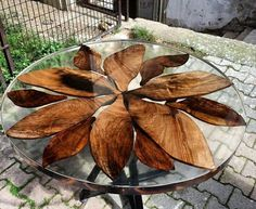 Different epoxy and wood table idea