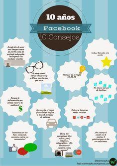 FaceBook: 10 años 10 consejos Por: @teamwayka #infografia #infographic #socialmedia