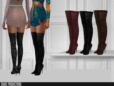 The Sims 4 ShakeProductions 191 - High Heels Sims Mods, My Sims, Sims Cc, Hair The Sims 4, High Heels Boots, Sims 4 Cc Shoes, Sims4 Clothes, Sims Resource, Sims 4 Cc Finds
