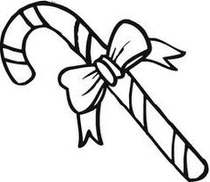 X Mas Candy Cane Christmas Decoration Coloring Page For Children To Draw Colors