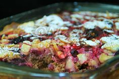 Terapia do Tacho: Bolo-pudim de aveia com frutos vermelhos (Oatmeal and red berries cake-pudding)