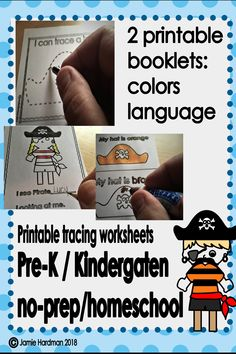 This is another fun package full of fine motor activities that are ready to print to make your lesson planning easier. They are great for literacy centers, circle time or small group table work. If you want to learn about pirates check it out! Motor Activities, Reading Activities, Kindergarten Activities, Early Childhood Activities, Tracing Worksheets, Circle Time, Pirate Theme, Lesson Planning, Math Skills