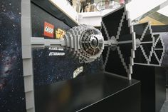 Two TIE fighters were also made, using 80,000 bricks each and spanning over two metres.
