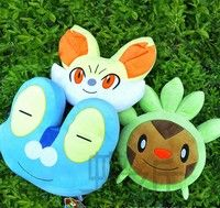 Pokemon Pocket Monster Fennekin Chespin Froakie Anime Cartoon Plush Doll