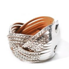 www.facebook.com/SNEAKFIND Rhinestone Silver Cuff   $10.00