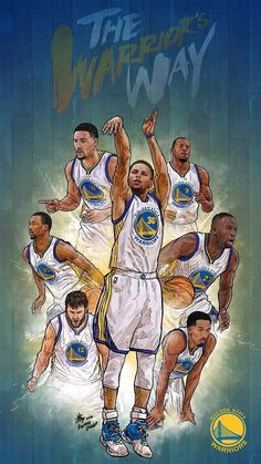 NBA Phone Wallpaper - Artist: Kim MinSuk (김민석) #Yellowmenace #basketballart #GSW…: