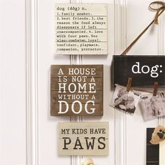 Mudpie Dog Plaques - Home Decor BUY NOW