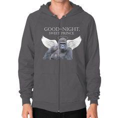 Good-Night, Sweet Harambe Zip Hoodie (on man) Shirt