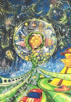 Psychedelic Art, Haiku, Google Drive, Hong Kong, Competition, China, Japan, Illustration, Painting