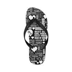 6223bfb68dc03 Bride Wedding Flip Flops Bride Beach Shoes by Juleez Flip Flops for Men  Women Art