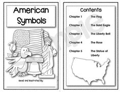 American Symbols:  An Emergent Text for Young Historians {K-2}  This item includes two versions of the text... the second version is simpler and includes single sentences on each page.  $