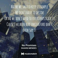 No Promises// Shawn mendes