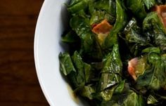 Collard Greens with Bacon #recipes