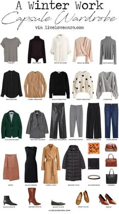 Capsule Wardrobe Work, Capsule Outfits, Fashion Capsule, Mode Outfits, Work Wardrobe Essentials, Capsule Clothing, Office Wardrobe, Capsule Wardrobe How To Build A, 10 Item Wardrobe