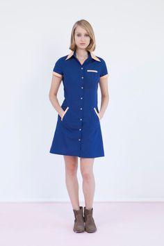 Pink n blue dress uniform