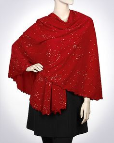 Evening shawls cape wraps for women with a bit of shine look dressy and stylish.