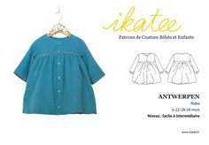 2b7d5761f40ca Patron de couture Robe ample ANTWERPEN PDF 6-24M