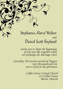 Elegant Swirl Wedding Invitation