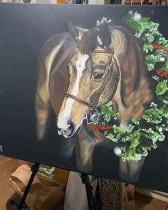 Seven Horses Painting, Horse Canvas Painting, Canvas Painting Tutorials, Horse Paintings, Painting Of Girl, Diy Canvas Art, Animal Paintings, Arte Equina, Horse Illustration