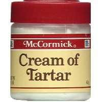 """Cream of Tarter - """"This long-forgotten gem of a cleaning agent may be used with a little water or vinegar to lift even the most stubborn stains. Unattractive grout driving you batty?   Mold and mildew stains got you reaching for the Prozac? Burner pans and casserole dishes giving you fits? Cream of Tartar is your new best friend."""""""