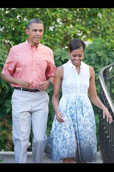 Michelle Obama Opts for Narciso Rodriguez at the White House