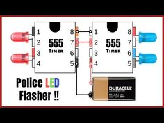 Hello, Guys today in this video I will show you How To Make LED Flasher Circuit? Visit my Website for Buying Links & more Information about LED Flasher Circu. Electronics Projects, Electronic Circuit Projects, Electrical Projects, Electronics Components, Electronic Engineering, Electronics Gadgets, Strobo Led, Electronic Technician, Police Lights