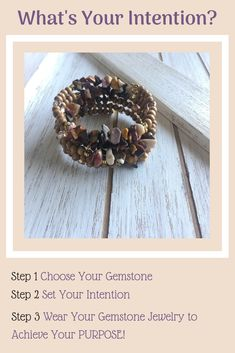 Handmade Gemstone Jewelry: Choose your gemstone then set your intentions. Wearing your gemstone jewelry is a visual reminder of your PURPOSE! Jewelry Crafts, Handmade Jewelry, Unique Jewelry, Crystal For Anxiety, Jewelry Closet, Diffuser Jewelry, Yoga Clothing, Jasper Stone, Good Energy