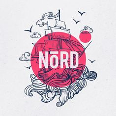 Ines A.mel - NõRD logo design for bold restaurand branding with nautic vibes! ...