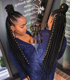 65 Badass Box Braids Hairstyles That You Can Wear Year-Round - Hairstyles Trends Feed In Braids Hairstyles, Braided Ponytail Hairstyles, Braided Hairstyles For Black Women, Braids For Black Hair, African Hairstyles, Canerow Hairstyles, Black Girl Braids, Short Twist Hairstyles, Cornrow Hairstyles Natural Hair