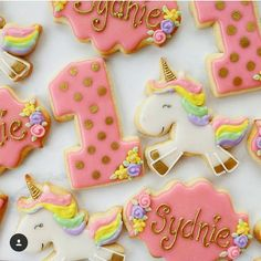 "282 Likes, 5 Comments - Shealynn (@sheybcookiedesigns) on Instagram: ""What a dreamy set of cookies decorated by @milkandcookiesbakeshop using our Glitter the Unicorn…"""