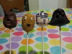 Star Wars Cake Pops (Chubaca, C3PO, R2D2, Darth Vader)