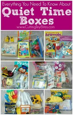 Everything You Need To Know About Quiet Time Boxes. Why to use them, how to make them, what to put in them, and more!